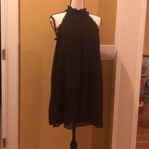 Cute BCBG Black halter dress.